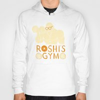 gym Hoodies featuring roshi's gym by Louis Roskosch