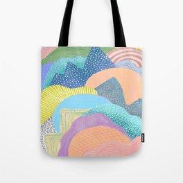Modern Landscapes and Patterns Tote Bag