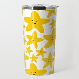 Kawaii Starfish Party Travel Mug