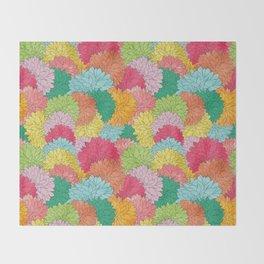 Hydrangea Haven Bright Summer Floral Throw Blanket