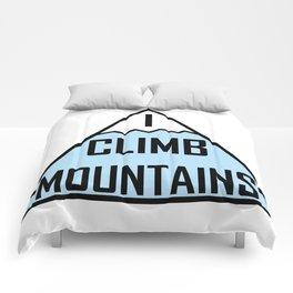 I Climb Mountains Blue Comforters