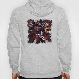 big coffee beans splatter watercolor Hoody