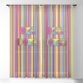 Oki Doki Sheer Curtain