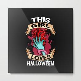loves halloween Metal Print