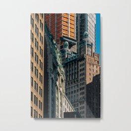 Skyscrapers in Financial District Lower Manhattan 2019 Metal Print