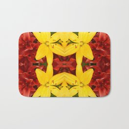 """A Gathering of Lilies"" Remix - 3 (4-1) [D4468~49] Bath Mat"