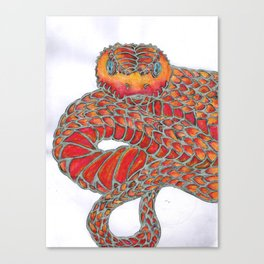Red Snake Canvas Print