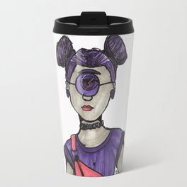 Grunge Cyclops Travel Mug