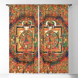 Buddhist Kalachakra Mandala DMT Vision Blackout Curtain