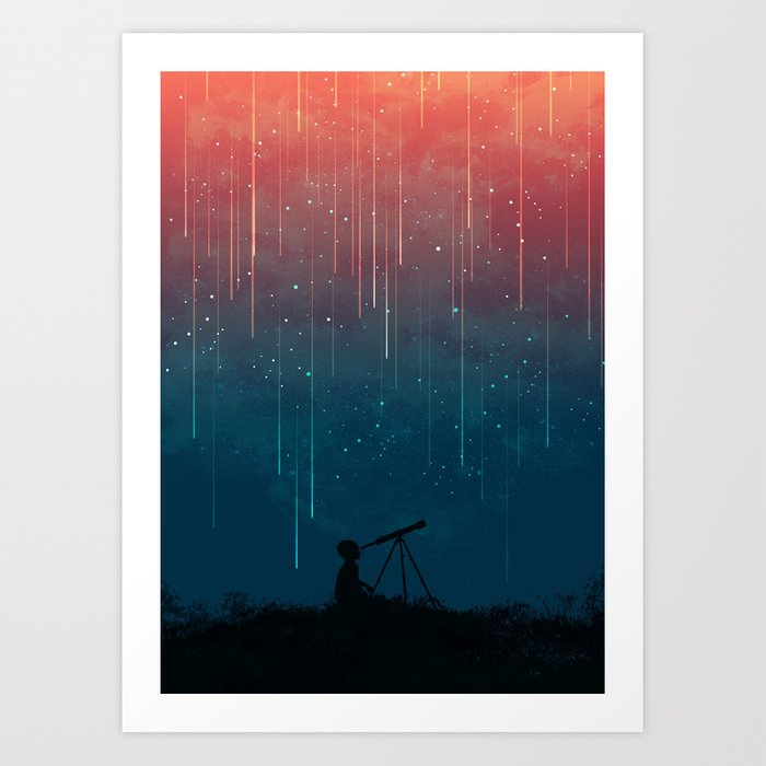 Meteor rain Art Print