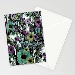 Mrs. Sandman, melting rose skull pattern Stationery Cards