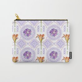 Gothic Revival Daylily Lace Carry-All Pouch