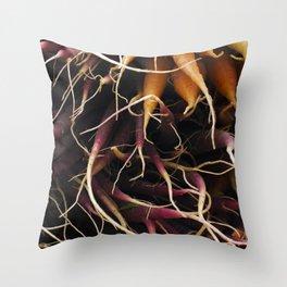 Carrot Colors Throw Pillow