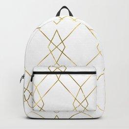 Gold Geometric Backpack