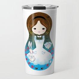 Alice in Wonderland matrioska Travel Mug