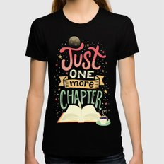 One more chapter Black Womens Fitted Tee MEDIUM