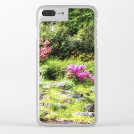 Summer Garden Clear iPhone Case