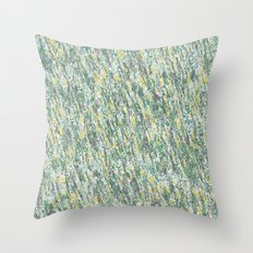 Teal Forest Throw Pillow