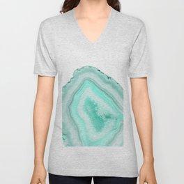 Soft Turquoise Agate Dream #1 #gem #decor #art #society6 Unisex V-Neck