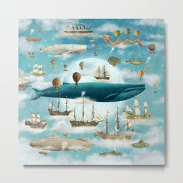Ocean Meets Sky - option Metal Print