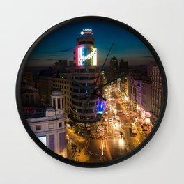 Callao & Gran Via Wall Clock