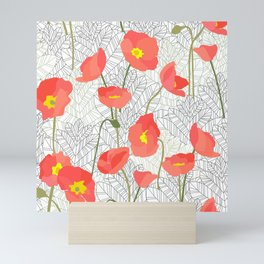 Sketchy Poppies Mini Art Print