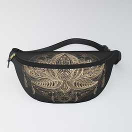 Lotus Black & Gold Fanny Pack