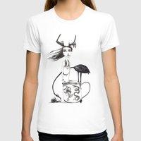 alice in wonderland T-shirts featuring Wonderland by lesinfin