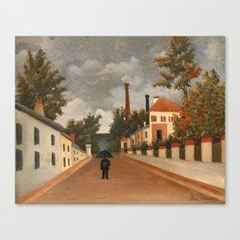 Henri Rousseau - Vue des environs de Paris Canvas Print