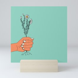 Hold On Tight To Summer (Teal) Mini Art Print