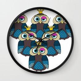 Owl Minions  Wall Clock