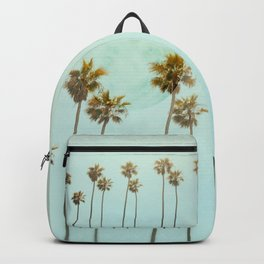 Full Moon Paradiese Beach Palm Trees Backpack