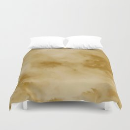 Yellow clouds Duvet Cover