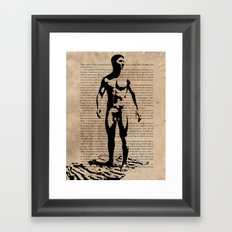 As I Moved Deeper Into the Forest Framed Art Print
