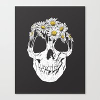 pushing daisies Canvas Prints featuring pushing daisies by campkatie