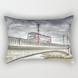 Battersea Bridge London Snow Rectangular Pillow