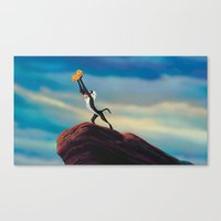 the lion king Canvas Prints featuring LION KING by Julie Qiu