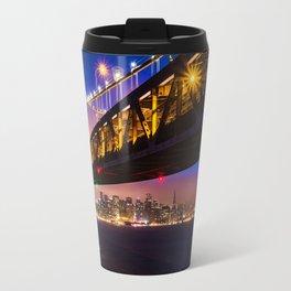 Bay Bridge at Sunset Travel Mug