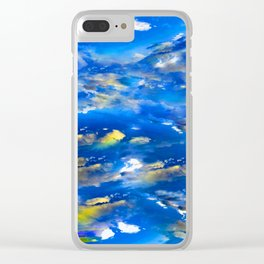 CLOUDS ABSTRACT Clear iPhone Case