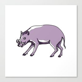 Babirusa or Deer Pig Drawing Canvas Print