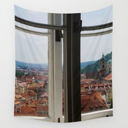 Through the Windows of Prague Castle Wall Tapestry