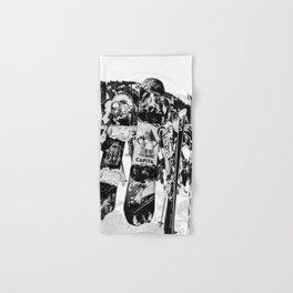 Snowboard Season in Black and White Hand & Bath Towel
