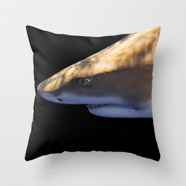 Lemon Shark Backdrop Throw Pillow