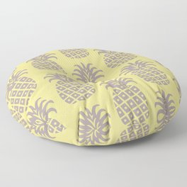 Retro Mid Century Modern Pineapple Pattern 543 Floor Pillow
