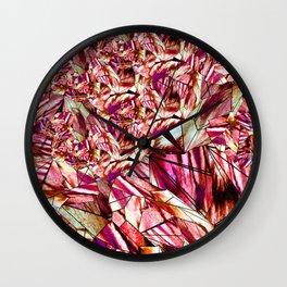 Crystal Ruby Red Gem Stone Wall Clock