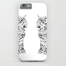 Abstract cats iPhone Case