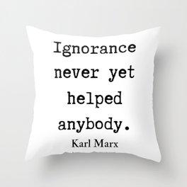 49    Karl Marx Quotes   190817 Throw Pillow