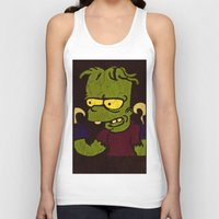 simpson Tank Tops featuring Bart Simpson by Jide