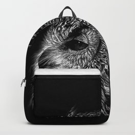 Black and White Owl Backpack