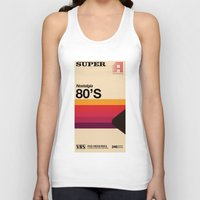 tape Tank Tops featuring Super Tape by Mathiole